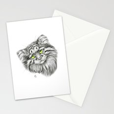 Pallas's Cat green G2012-51 Stationery Cards