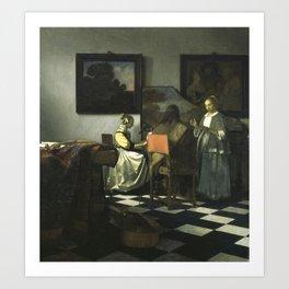 Stolen Art - The Concert by Johannes Vermeer Kunstdrucke