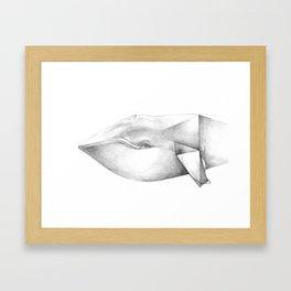 Whale Origami Framed Art Print