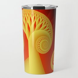The Yellow and the Red Fractal Travel Mug