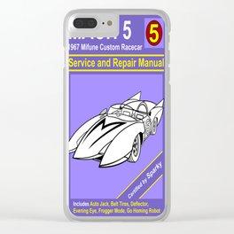 Mach 5 Manual Clear iPhone Case