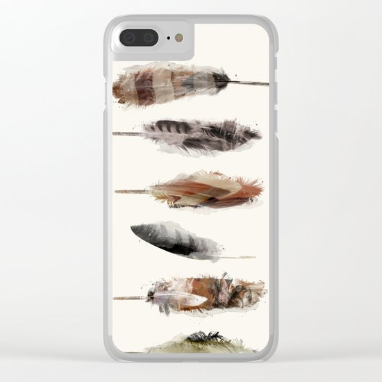 Free Fall Feathers Clear iPhone Case