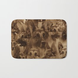 German Shepherd Dog collage Bath Mat
