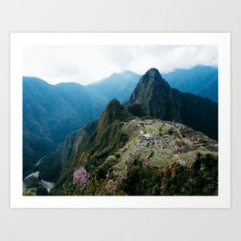 Flowers Before Machu Picchu Art Print