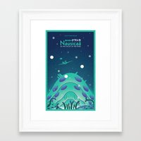nausicaa Framed Art Prints featuring Nausicaa Valley of the Wind by Oliver Sin