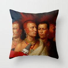 Young Omahaw, War Eagle, Little Missouri, and Pawnees Throw Pillow