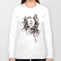 jennifer lawrence Long Sleeve T-shirts featuring Jennifer Lawrence by dariemkova