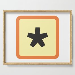 Typographic Star Serving Tray