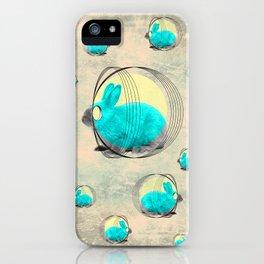 hypnotic rabbit iPhone Case