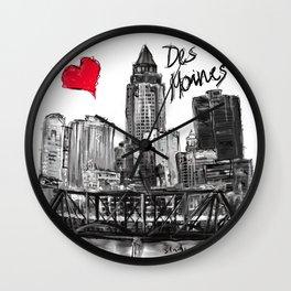 I love Des Moines Wall Clock