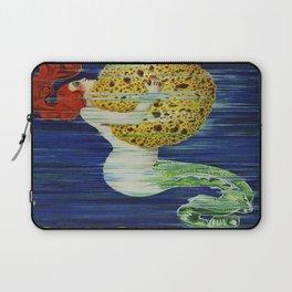 Mermaid with Sponge Vintage Art Laptop Sleeve