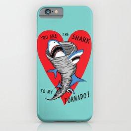 Shark To My Tornado iPhone Case