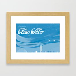 cleanwater Framed Art Print