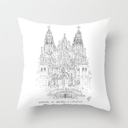 Cathedral of Santiago De Compostela Throw Pillow