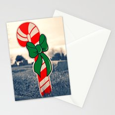 Christmas candy cane Stationery Cards