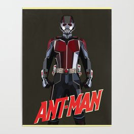 Ant-Man Poly Art Poster