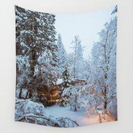 Yosemite Snow Storm Wall Tapestry