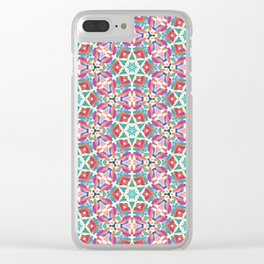 Watercolor Boho Dash 1 Clear iPhone Case