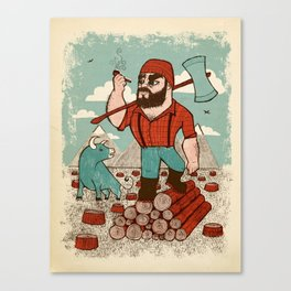 Paul Bunyan & Babe Canvas Print