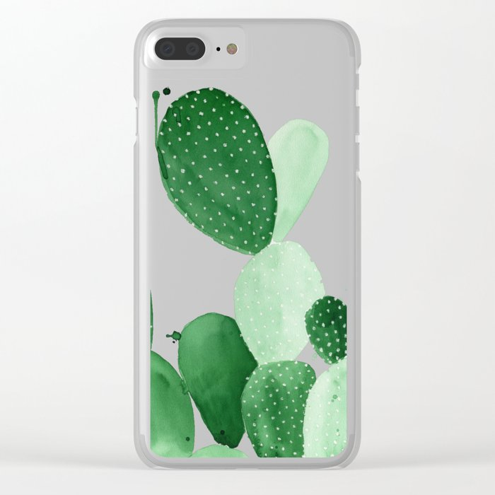 Green Paddle Cactus II Clear iPhone Case