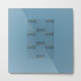 Matchstick Pattern Metal Print
