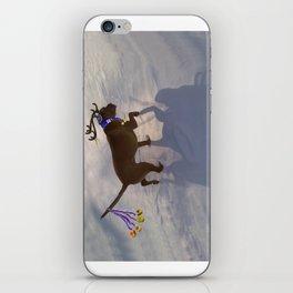 """DREIDEL, DREIDEL, DREIDEL ...Hanukkah PLaY-Do'LPH"" from the photo series, ""My dog, PLaY-DoH"" iPhone Skin"