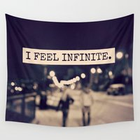 caleb troy Wall Tapestries featuring I Feel Infinite by Caleb Troy