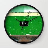 john green Wall Clocks featuring John Deere Green..... by LeeRay Flowers