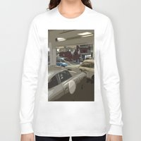 porsche Long Sleeve T-shirts featuring Porsche Garage by Premium