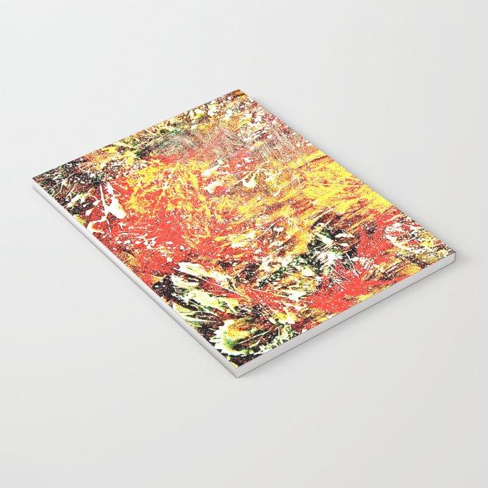 Golden Autumn Abstract Notebook