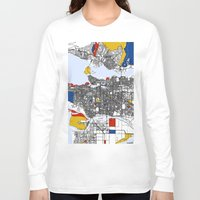 mondrian Long Sleeve T-shirts featuring Vanvouver Mondrian by Mondrian Maps