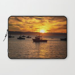 The Best Part of Waking Up boats in Port San Luis at Sunrise Laptop Sleeve