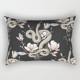 Magnolia and Serpent Rectangular Pillow