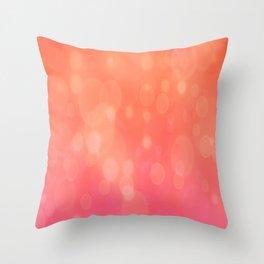Peach Sparkle Throw Pillow