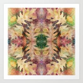Leaf Mandala no 6 Kunstdrucke