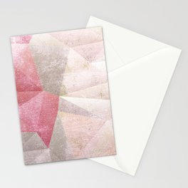 Frozen Geometry - Blush & Champagne #abstractart Stationery Cards