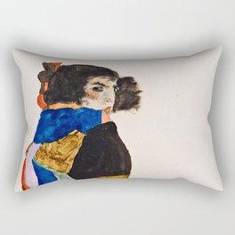Egon Schiele - Moa Rectangular Pillow