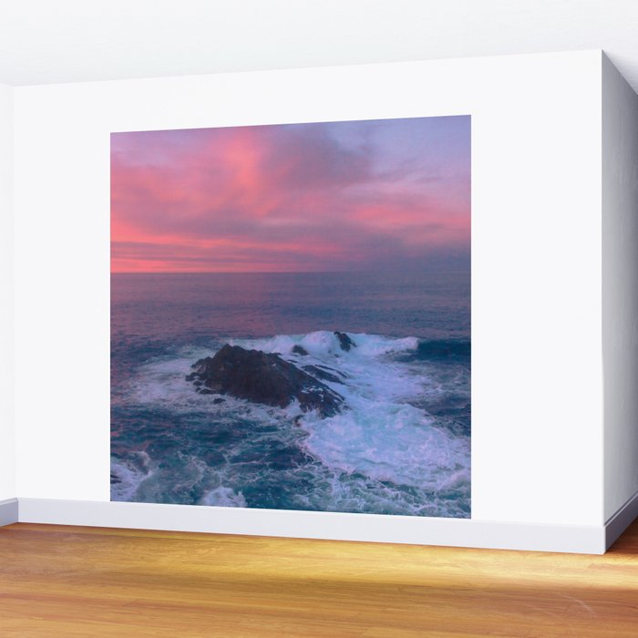 Sunset On The Bay Of Biscay Wall Mural By Svetlanakorneliuk Society6