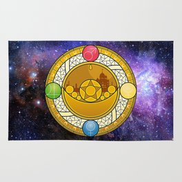Sailor Moon Crystal stained glass window Transformation Brooch Rug