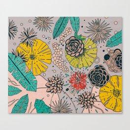 Olga loves flowers Canvas Print