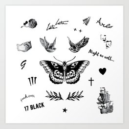 Harry's Tattoos Two Kunstdrucke