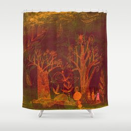 fall forest Shower Curtain