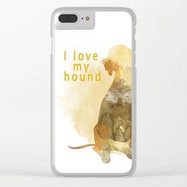Hound Clear iPhone Case
