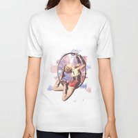 water color V-neck T-shirts featuring Water Color by Camila Agostini