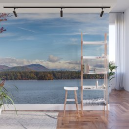 Fall foliage on the lake Wall Mural