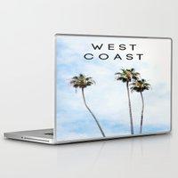 west coast Laptop & iPad Skins featuring West Coast Palms by ktyphoto