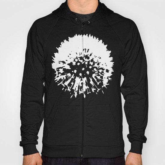 Dandelion [white on black] Hoody