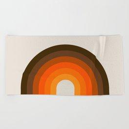 Golden Rainbow Beach Towel