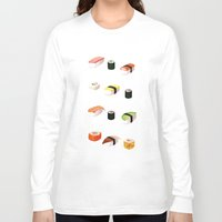 sushi Long Sleeve T-shirts featuring Sushi by Skrich