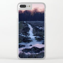 Frosty Sunset Clear iPhone Case